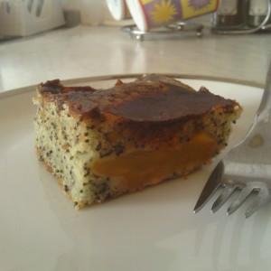 Makovo broskyňový koláč