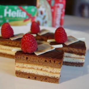 Čokoládové rezy s malinami