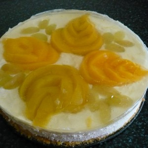 Tvarohovo ovocná torta