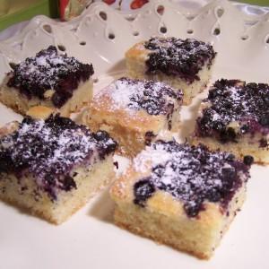 Rýchly koláč s čučoriedkami