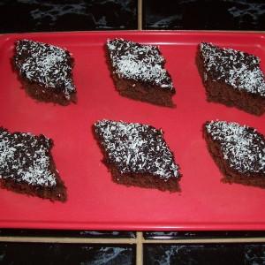 Rýchly čokoládovo-kokosový koláč