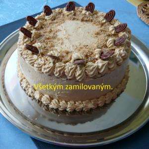 Kávovo-koňaková torta