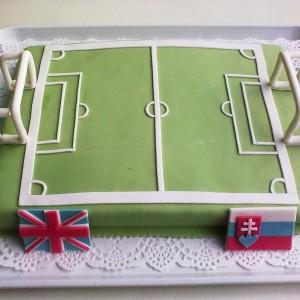 Dobošová torta - futbalové ihrisko