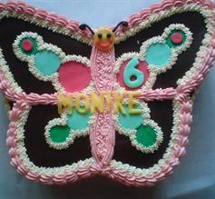 Narodeninová motýľová torta