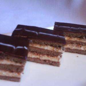 Medovo-kakaové rezy