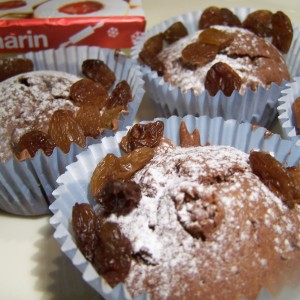 Hrozienkové mufiny s čokoládou