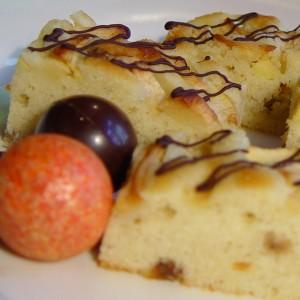 Trený jablkový koláč