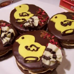 Čokoládové koláčiky s kuriatkami