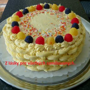 Ananásová torta pre zamilovaných