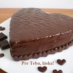 Čokoládovo - višňová torta