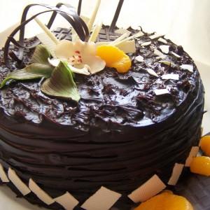 Čokoládovo mandarinková torta