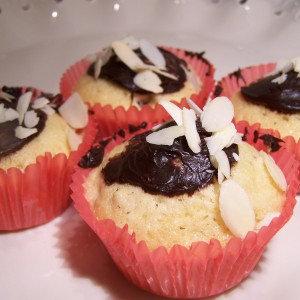 Ovocné mufiny s mandľami