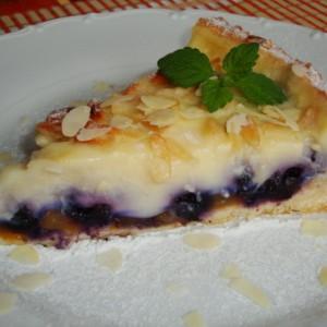 Fantastický broskyňovo-čučoriedkový koláč