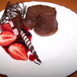 Pečená čokoláda s malinami