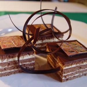 Orechovo čokoládové kocky
