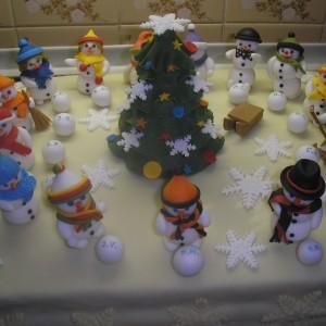 Vianočná rozlúčková torta